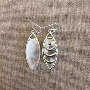 Reversible Mother of Pearl Earrings